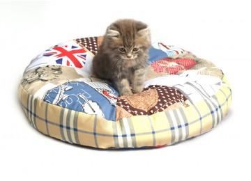 """Подушка для собак и котов """"КРУГ"""" лежак 50х7см без бортика RGTF"""