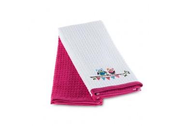Махровые полотенца для кухни TAC 40х60см (2 шт в упаковке, цвета в ассортименте)