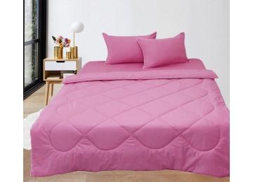 Set Summer Blanket + Pillowcases + Sheet Elegant Euro Pink
