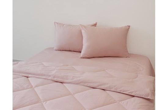 Набор летнее одеяло+ наволочки+ простынь Elegant двуспальное Persik