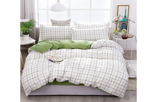 Постельное белье сатин люкс семейное с компаньоном S462 тм Tag tekstil