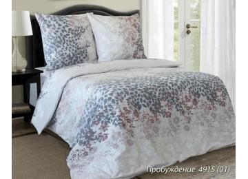 Пробуждение, бязь белорусская постельное белье с простынью на резинке двуспальное Комфорт текстиль