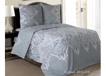 Постельное белье Верона серый, белорусская бязь евро с резинкой Комфорт текстиль