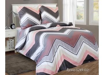 Буэно розов., бязь белорусская постельное белье с простынью на резинке двуспальное Комфорт текстиль
