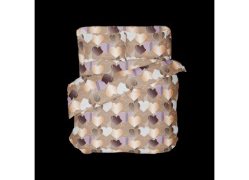 Влюбленность, бязь белорусская постельное белье с простынью на резинке семейное Комфорт текстиль