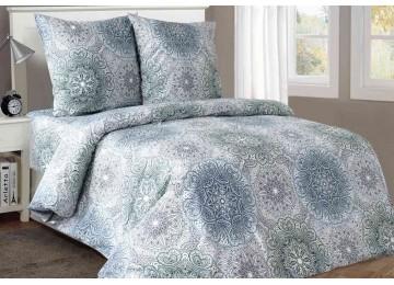 Солярис, бязь белорусская постельное белье с простынью на резинке полуторное Комфорт текстиль