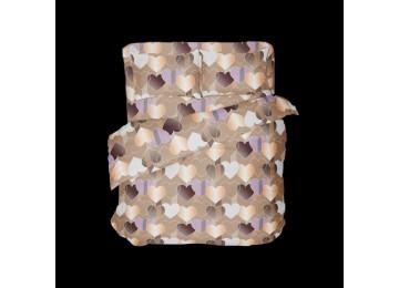 Влюбленность, бязь белорусская постельное белье с простынью на резинке двуспальное Комфорт текстиль