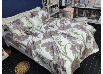 Постельное белье фланель Басури, полуторное с резинкой Комфорт текстиль