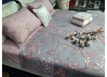 Постельное белье фланель Роялти, двуспальное с резинкой Комфорт текстиль