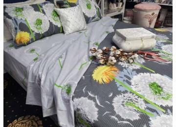 Постельное белье фланель Абсолют, семейное с резинкой Комфорт текстиль