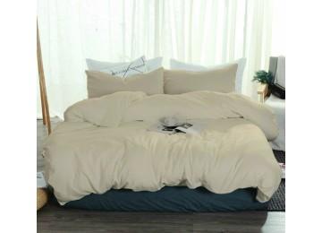Льняное постельное белье Песочный №606, полуторное Комфорт текстиль