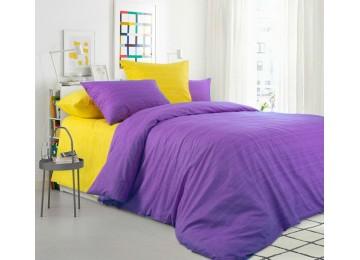 Постельное белье Эко 10+11, перкаль семейное с резинкой Комфорт текстиль