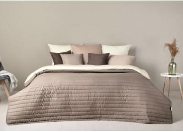 Bedspread Lux Style New, gray-beige (220/240 cm)