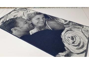 Полотенце Речицкий текстиль махровое Поцелуй банное 67x150см