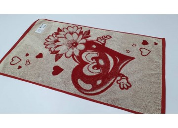 Terry towel from the heart for face 50x90cm