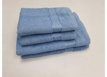 Полотенце махровое, Голубой для лица 50x90см