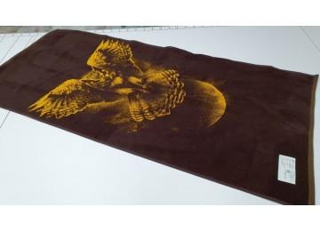 Полотенце Речицкий текстиль махровое Сова банное 67x150см
