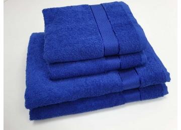 Полотенце махровое, Синий для лица 50x90см