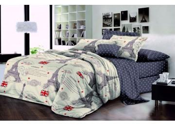 Постельное белье ранфорс Лондон-Париж, полуторное Комфорт текстиль