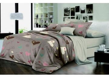 Постельное белье ранфорс Лакки, полуторное на резинке Комфорт текстиль