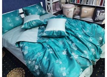 Постельное белье сатин жаккард PRESTIGE, семейное с резинкой Комфорт текстиль