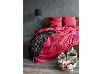 Bed linen stripe satin CHERRY one and a half Comfort textiles