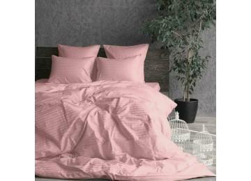 Постельное белье страйп-сатин LIGHT PINK полуторное Комфорт текстиль