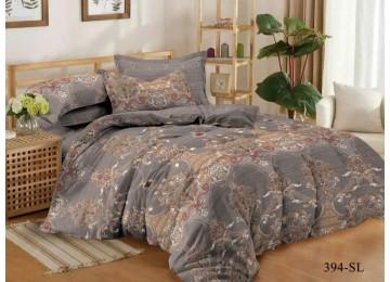 Бархатные сны, сатин постельное белье с простынью на резинке евро Комфорт текстиль