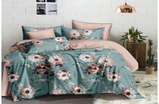 Постельное белье сатин Пион, полуторное Комфорт текстиль