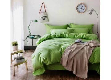 Сатин Stripe GREENERY 1/1см постельное белье полуторное Комфорт текстиль