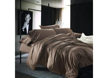 Постельное белье сатин люкс CACAO, №211 семейное с резинкой Комфорт текстиль