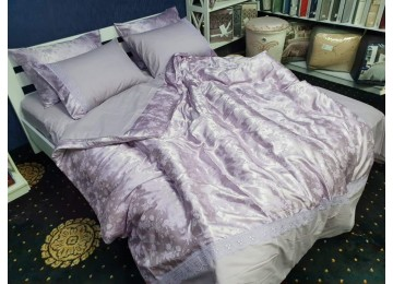 Постельное белье сатин жаккард SHINE, полуторное макси с резинкой Комфорт текстиль