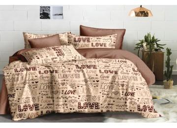 Постельное белье сатин Юность, двуспальное на резинке тм Комфорт текстиль
