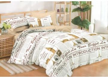 Постельное белье сатин Легенда, семейное с резинкой Комфорт текстиль