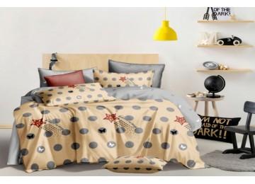 Постельное белье сатин Шлейф, двуспальное на резинке Комфорт текстиль