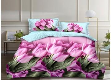 Bouquet, satin bed linen family Comfort textiles