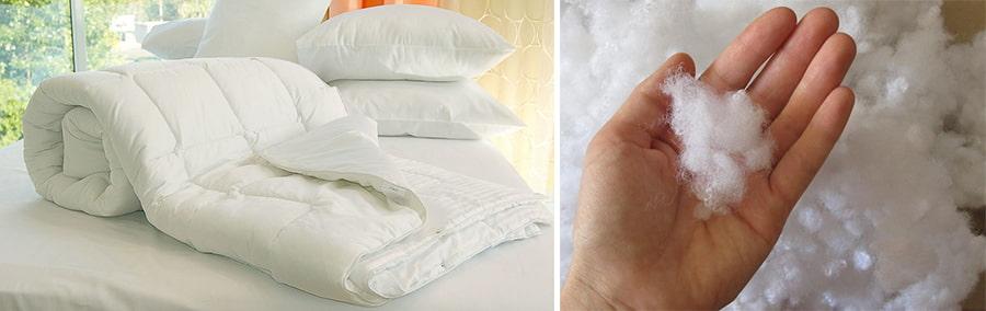Белое, сложенное одеяло