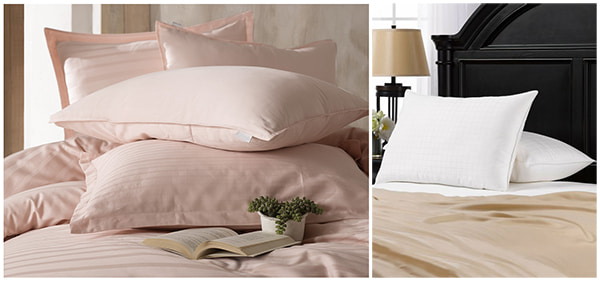 Подушки для сна розового и белого цветов