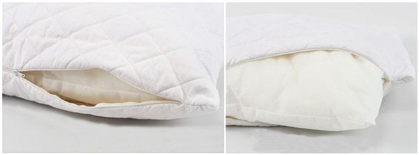 Подушка со сменным чехлом белого цвета