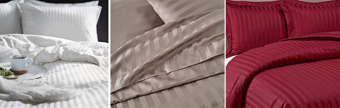 Постельное белье белого, коричневого, вишневого цвета