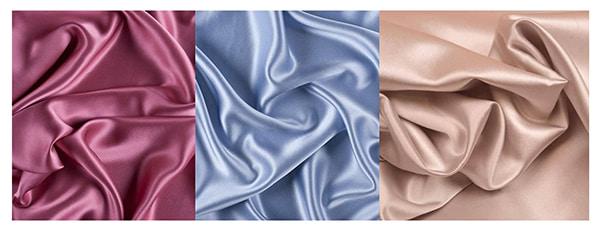 Ткань сатин вишневого, голубого и бежевого цветов