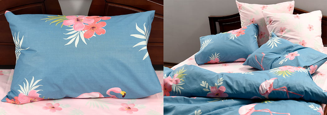 Бязь голд что это за ткань-постельное белье в розово-голубых тонах